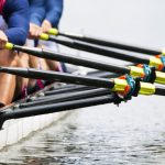 Close up of men's rowing team