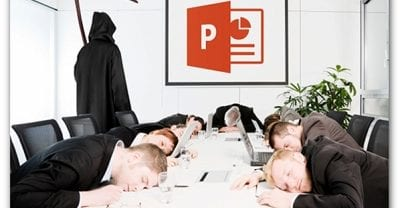 A great replacement for death by powerpoint